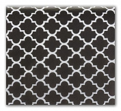 Black Quatrefoil Design Tissue Paper