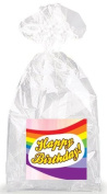 Over the Rainbow Happy Birthday! Party Favour Bags with Ties - 12pack