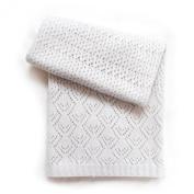 Esteffi Edwardian Wool Blend Baby Blanket, Ivory