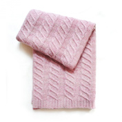 Esteffi Chunky Cable Wool-Blend Baby Blanket, Pink