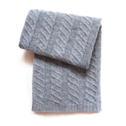 Esteffi Chunky Cable Wool-Blend Baby Blanket, Grey
