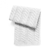 Esteffi Chunky Cable Wool-Blend Baby Blanket, Ivory