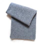 Esteffi Seed-Stitch Wool Blend Baby Blanket, Grey