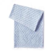 Esteffi Edelweiss Wool Blend Baby Blanket, Blue