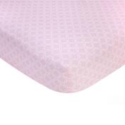 Carter's Sateen Crib Sheet, Pink Trellis Print, One Size