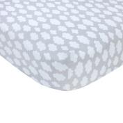 Carter's Sateen Crib Sheet, Grey Cloud Print, One Size