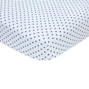 Carter's Sateen Crib Sheet, Navy Star Print, One Size