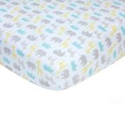 Carter's Sateen Crib Sheet, Taupe Safari Print, One Size