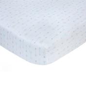 Carter's Sateen Crib Sheet, Blue Arrow Print, One Size