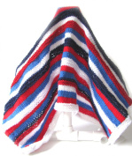 KSS Handmade Striped Blanket in Red, White and Blue Newborn and up