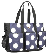 Yoovi Large Capacity Baby Nappy Tote Bag Over the Shoulder and Cross Body Bag, with Changing Pad and Wetbag