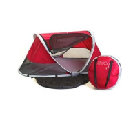 KidCo PeaPod, Cranberry- Children's travel bed with a carry/storage bag