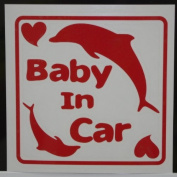 Original sticker Baby In Car dolphin (Red) SD-1093