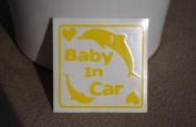 Original sticker Baby In Car dolphin (lemon) SD-1090