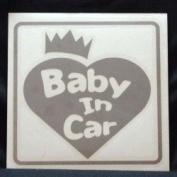 Original sticker Baby In Car Crown Heart (Silver) ST-1078