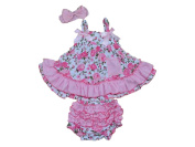 Baby Rae Sleeveless Dress 3 in 1 Gift Set:Dress+Head Band+Lacy Pants -in Gift Box