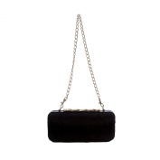 Elaine Turner Women's Calf Hair Hardshell Angelina Clutch One Size Black