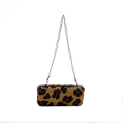Elaine Turner Women's Calf Hair Hardshell Angelina Clutch One Size Cheetah Print