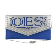 Order of the Eastern Star Faux Leather Envelope Clutch with Detachable Chain Shoulder Strap