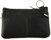 Genuine Leather Large 18cm Coin/Coupon/Cosmetic/Smart Cell Purse Case with Key Ring