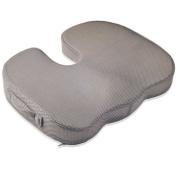 Dr. Frederick's Original BreatheTEC Memory Foam Tailbone Cushion - Non Slip - Washable Cover