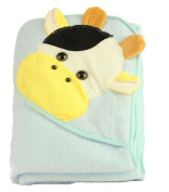 Cotton Cute Cow Animal Cartoon Pattern Baby Infant Kid's Adorable Bath Hooded Towel Wrap