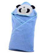 Cotton Cute Panda Face Animal Cartoon Pattern Baby Infant Kid's Adorable Bath Hooded Towel Wrap