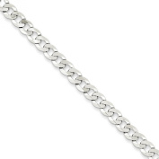 .925 Sterling Silver 5.75MM Close Flat Curb Link Chain Necklace