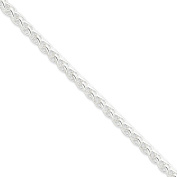 .925 Sterling Silver 6.00MM Round Spiga Link Chain Necklace