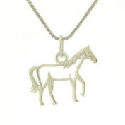 925 Sterling Silver Horse Cowgirl Cowboy Cute Pendant Chain Necklace Jewellery