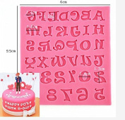 Ainest 1pc Silicone Alphabet Letter Trays Chocolate Mould Cake Fondant Decorating Tools