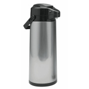 HUBERT® Stainless Steel 2.4 Litre Glass Lined Airpot Coffee Server