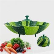 Lotus Folding Non-scratch Steamer Basket - Kitchen Cooking Tool Cookware for Fruit,vegetable Steamer Basket