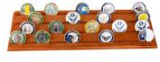 Military Challenge Coin Holder Stand (Walnut)