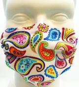 Breathe Healthy Dust, Allergy & Flu Mask - Comfortable, Washable Protection from Dust, Pollen, Allergens, Cold & Flu Germs with Antimicrobial; Asthma Mask; Paisley Punch