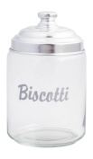 Ottinetti Biscotti Cookie Glass Jar with Aluminium Lid, 2 L