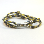 Handmade Camouflage Themed Paracord Bracelet with Fish Hook