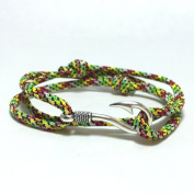 Handmade Zombie Themed Paracord Bracelet with Fish Hook