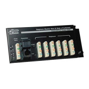 Telephone Master Hub 4 x 6 Phone Line Distribution Module RJ-45 Expansion, RJ-31X Security System Connexion with 110 Punch Down Connectors