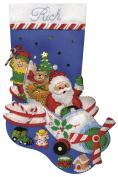 Tobin Flying Santa Stocking Felt Applique Kit, 46cm Long