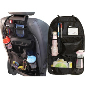 Obecome Car Backseat Organiser for Baby Travel Accessories and Kids Toy Storage,Black