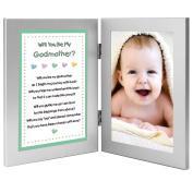 Will You Be My Godmother. Keepsake Frame - Add Baby Photo