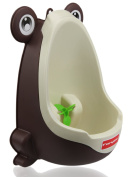 Foryee Cute Frog Potty Training Urinal for Boys with Funny Aiming Target - Coffee