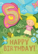 Insects (Age 5) - Happy Birthday Card-Book