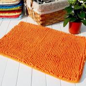 Hughapy® Orange Non Slip Microfiber Carpet / Doormat / Floor mat / Bedroom / Kitchen Shaggy Area Rug Carpet