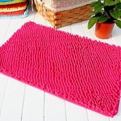 Hughapy® Rose red Non Slip Microfiber Carpet / Doormat / Floor mat / Bedroom / Kitchen Shaggy Area Rug Carpet