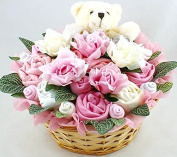 baby Girl Flowers Bouquet Hamper - Exclusive to the GIFTBOX as our own branded items