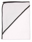 Luma Babycare L01000 Hooded Towel 85 x 75 cm, Grey/White