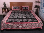 All Purpose Indian King Size 3 PC Elephant Printed 100 % cotton Bedding Set Bed Cover