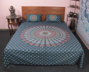 Traditional 100 % cotton Mandala Printed 3 Pcs Bedding Cover With Pillow Case Bedding Set